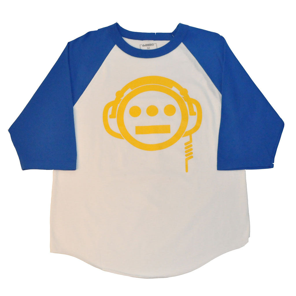 delHIERO - Headphones Men's Baseball Raglan, Royal/White - The Giant Peach - 1