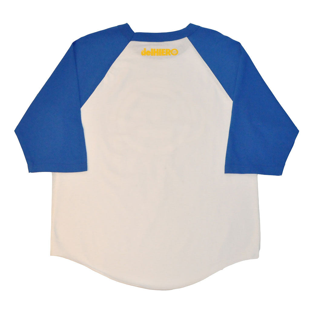 delHIERO - Headphones Men's Baseball Raglan, Royal/White - The Giant Peach - 2