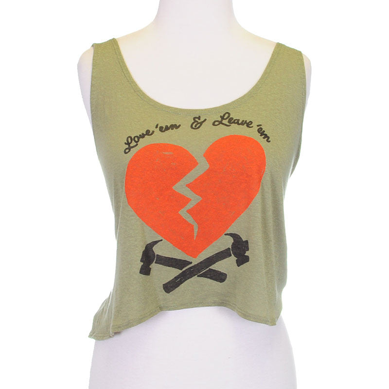 OBEY - 89 Heartbreakers Women's Break Up Tank, Dried Herb - The Giant Peach