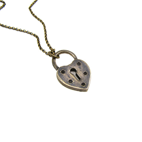 Ornamental Things - Heart Lock Necklace