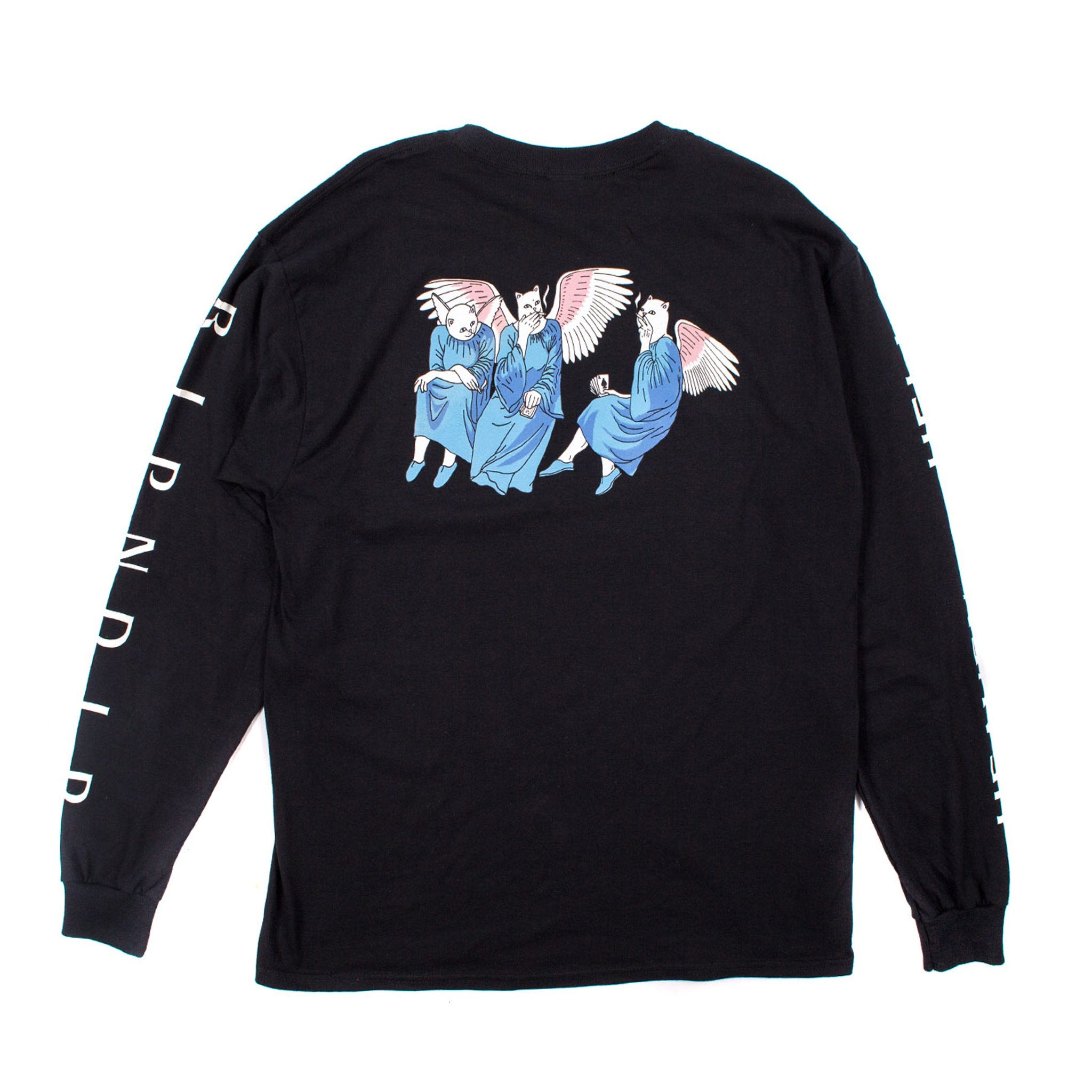 RIPNDIP - Heaven and Hell Men's L/S Tee, Black - The Giant Peach