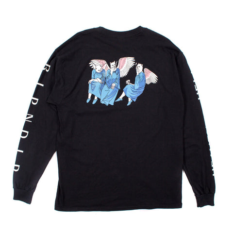 RIPNDIP - Heaven and Hell Men's L/S Tee, Black