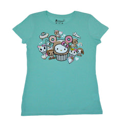 tokidoki - Hello Donut Kitty Women's Tee, Mint - The Giant Peach