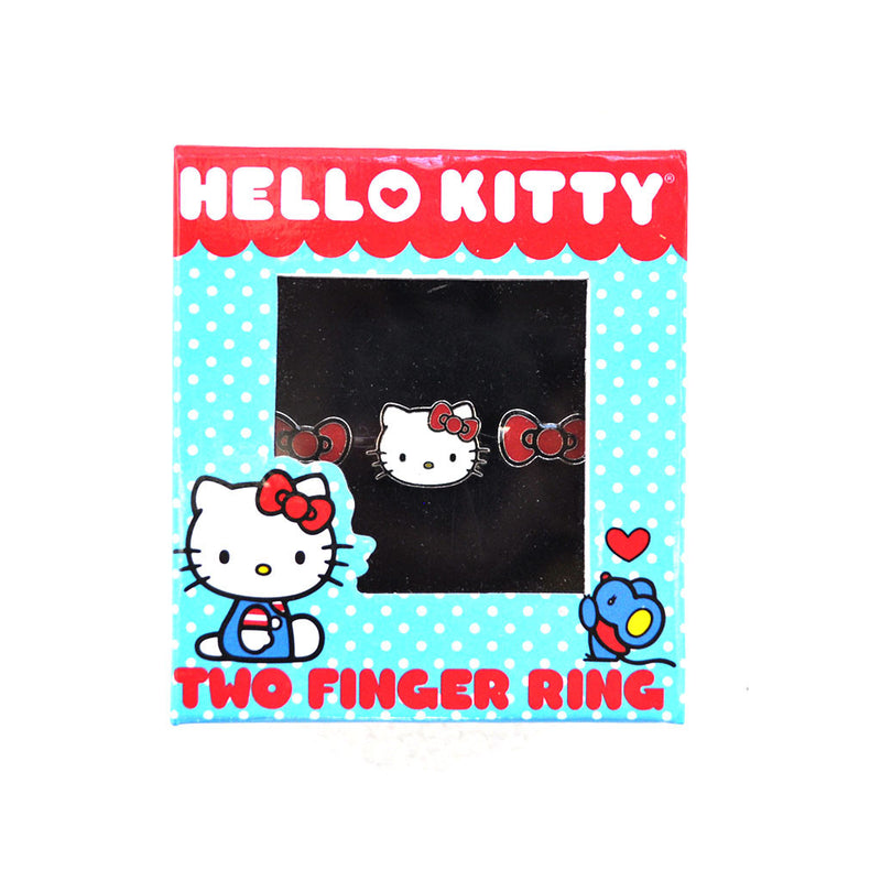 Loungefly - Hello Kitty Bow & Head 2-Finger Ring - The Giant Peach