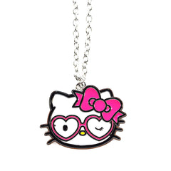 Loungefly - Hello Kitty Heart Sunglasses Enamel Pendant Necklace - The Giant Peach