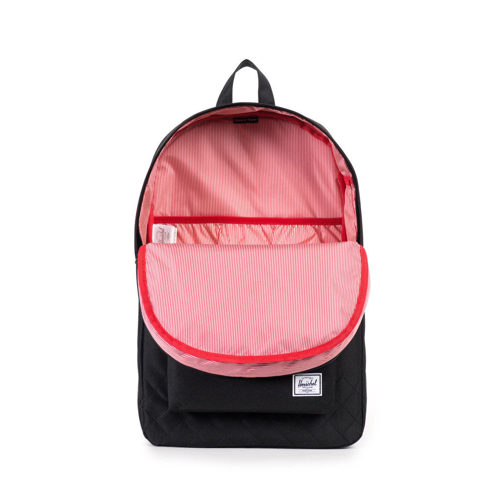 Herschel Supply Co. - Heritage Backpack, Black Quilted - The Giant Peach
