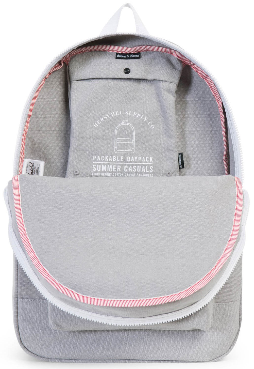 Herschel Supply Co. - Packable Daypack, Grey Canvas - The Giant Peach - 3