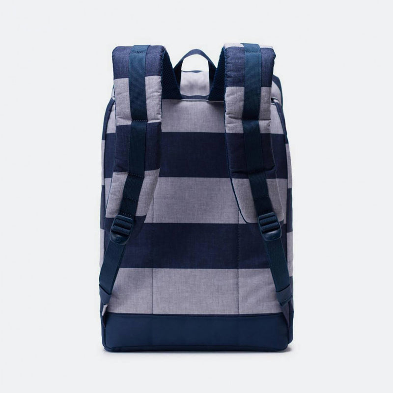 Herschel Supply Co. - Retreat Backpack, Border Stripe/Saddle Brown