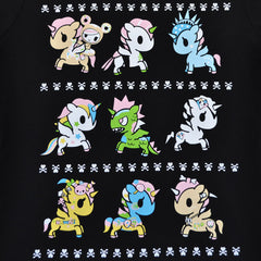 tokidoki - High Five Unicornos Women's Tee, Black - The Giant Peach