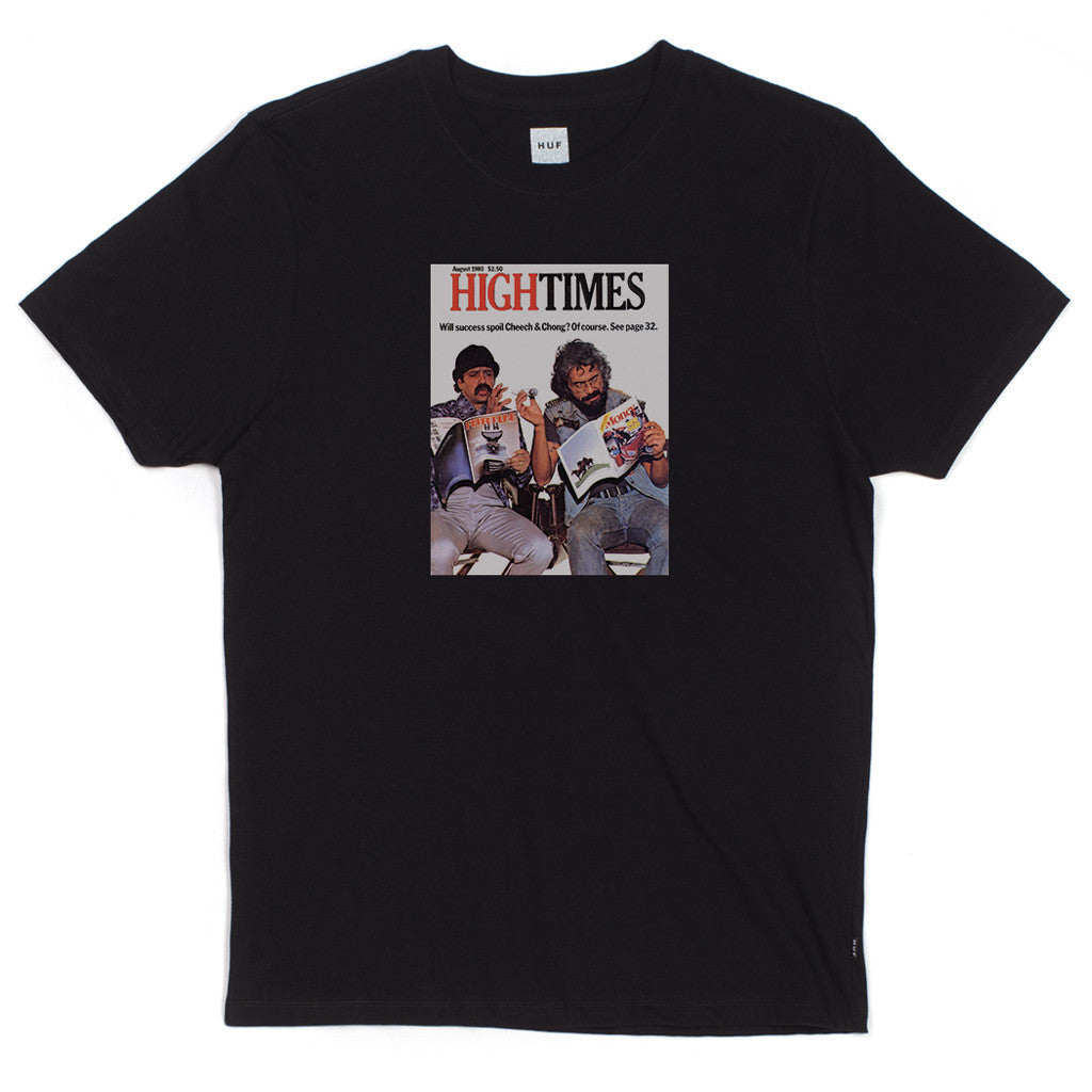 HUF - HUF x High Times x Cheech & Chong Men's Tee, Black - The Giant Peach