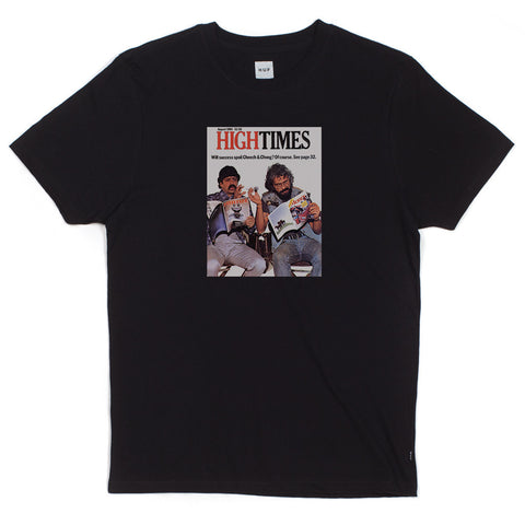 HUF - HUF x High Times x Cheech & Chong Men's Tee, Black