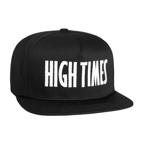 HUF - HUF x High Times Embroidered Snapback, Black