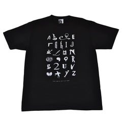 Ongaku - Hip Hop Alphabet Men's T-Shirt, Black - The Giant Peach