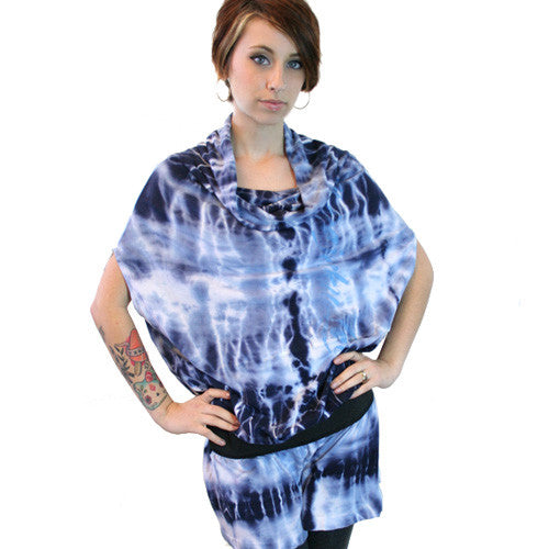 Harajuku Lovers - Tie-Dye Flow Junior's Dress, Hope Blue - The Giant Peach - 1