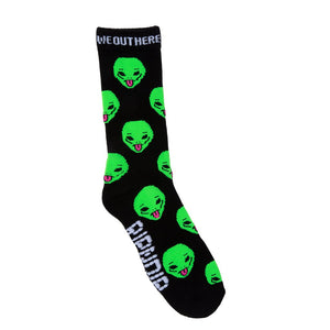 RIPNDIP - We Out Here Socks, Black