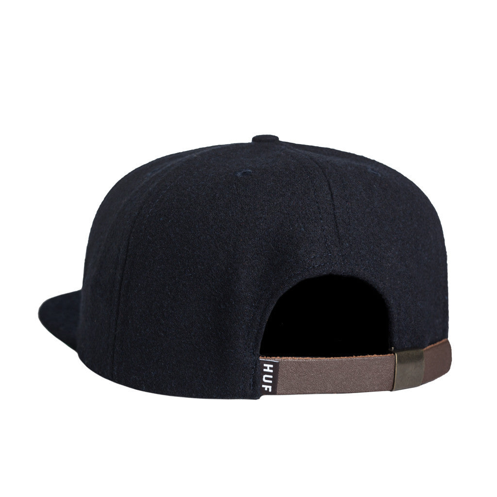 HUF - Home Field Wool Strapback, Navy - The Giant Peach