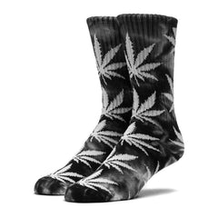 HUF - Tye Die Plantlife Crew Socks, Black/White