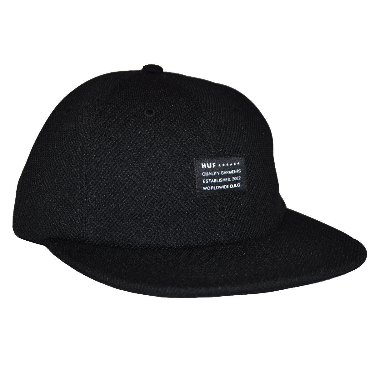 HUF - Diamond Knit 6 Panel Hat, Black - The Giant Peach - 1