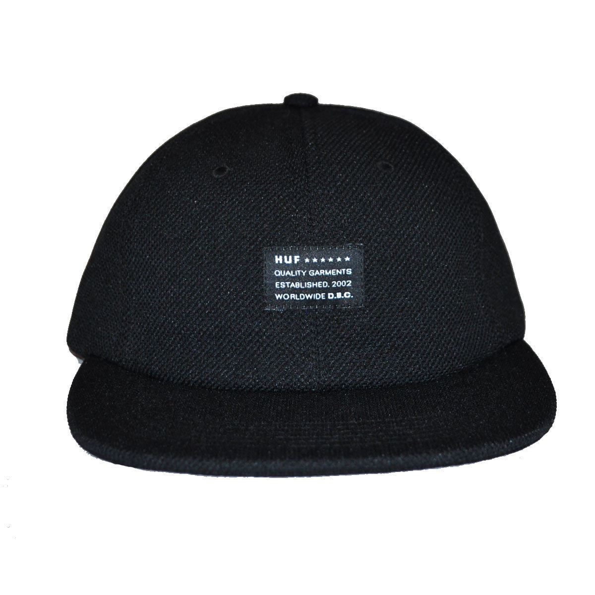 HUF - Diamond Knit 6 Panel Hat, Black - The Giant Peach - 2