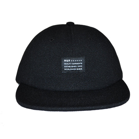 HUF - Diamond Knit 6 Panel Hat, Black