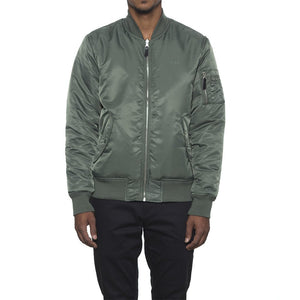 HUF - Elite Reversible MA-1 Men's Jacket, Olive Drab/Black - The Giant Peach