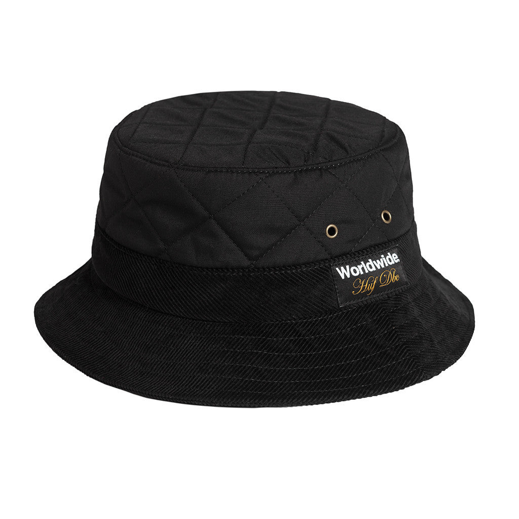HUF - Quilted Bucket, Black - The Giant Peach