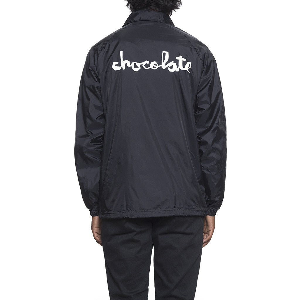 HUF x Chocolate Chunk Men's Coaches Jacket, Black - The Giant Peach