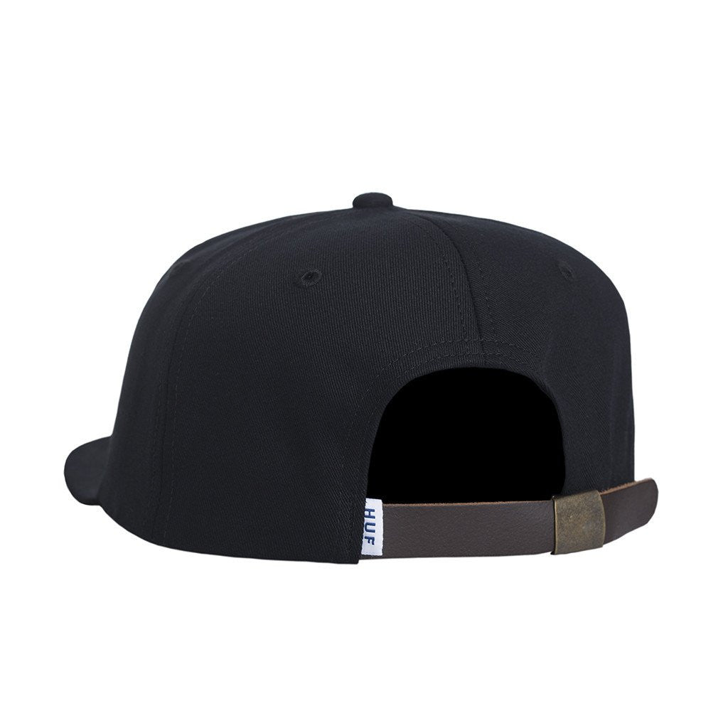 HUF x Chocolate Forever 6 Panel, Black - The Giant Peach
