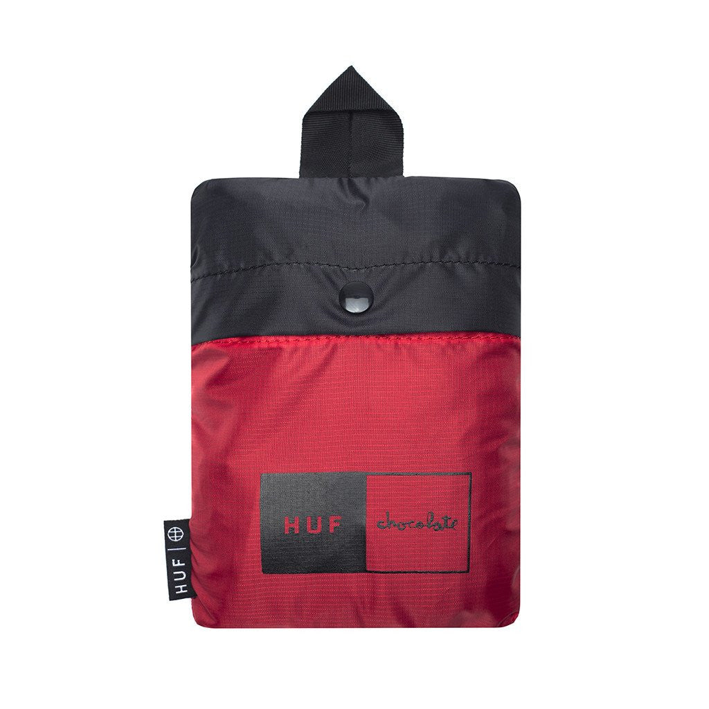 HUF x Chocolate Packable Backpack, Black - The Giant Peach