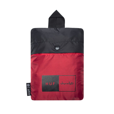 HUF x Chocolate Packable Duffle Bag, Black