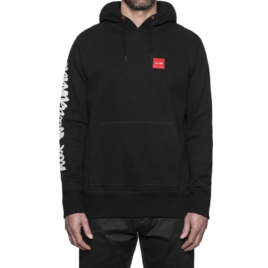 HUF x Chocolate Chunk Worldwide Men's Pullover Hood, Black - The Giant Peach - 1