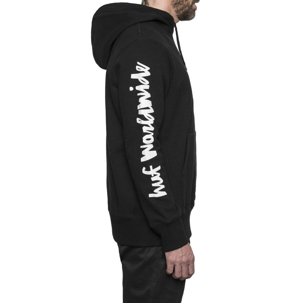HUF x Chocolate Chunk Worldwide Men's Pullover Hood, Black - The Giant Peach