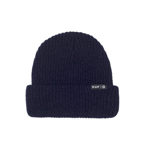 HUF - Usual Single Fold Beanie, Navy - The Giant Peach