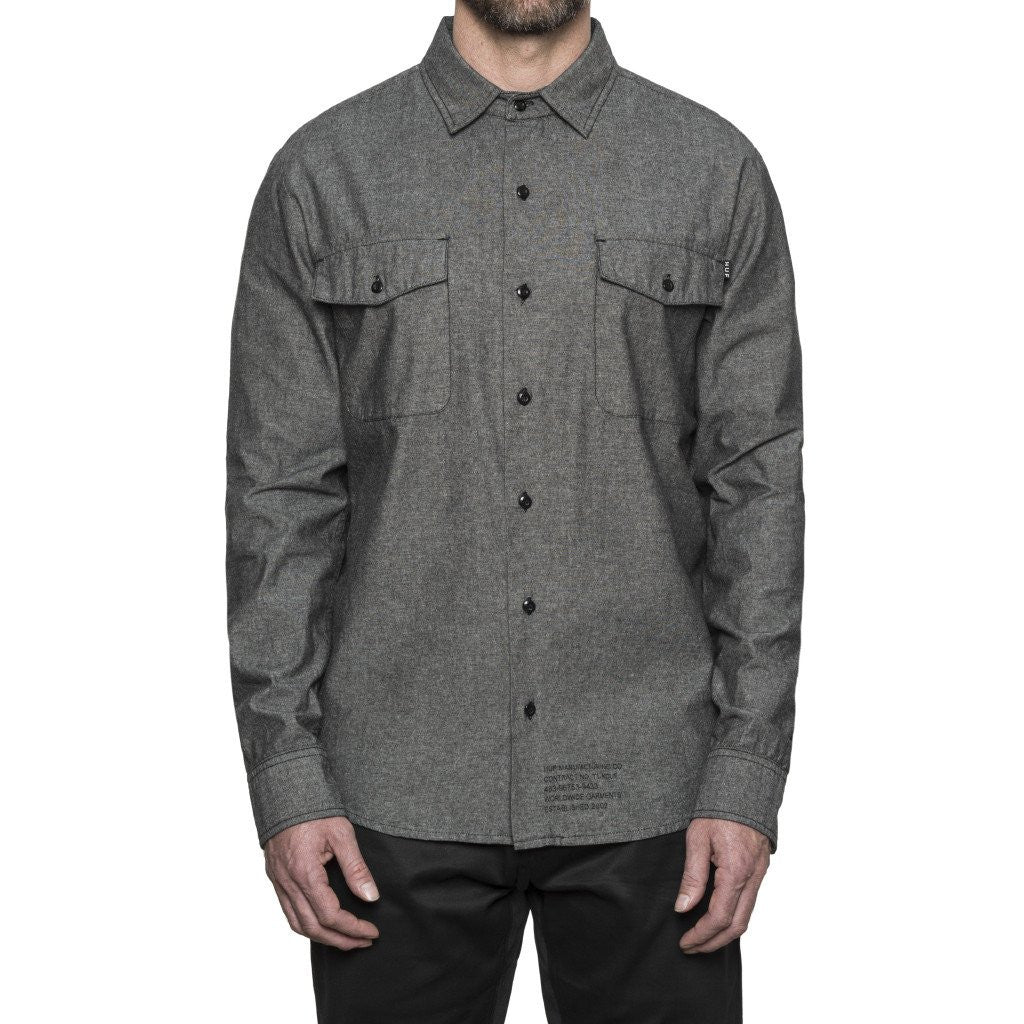 HUF - MFG Chambray Men's Shirt, Black - The Giant Peach