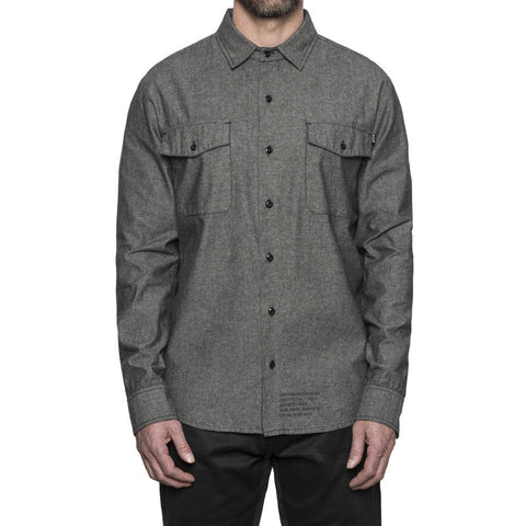 HUF - MFG Chambray Men's Shirt, Black