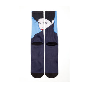 HUF - HUF x  Nagel Crew Socks, Navy - The Giant Peach