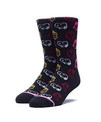 HUF x Peanuts Colors Crew Sock, Pink