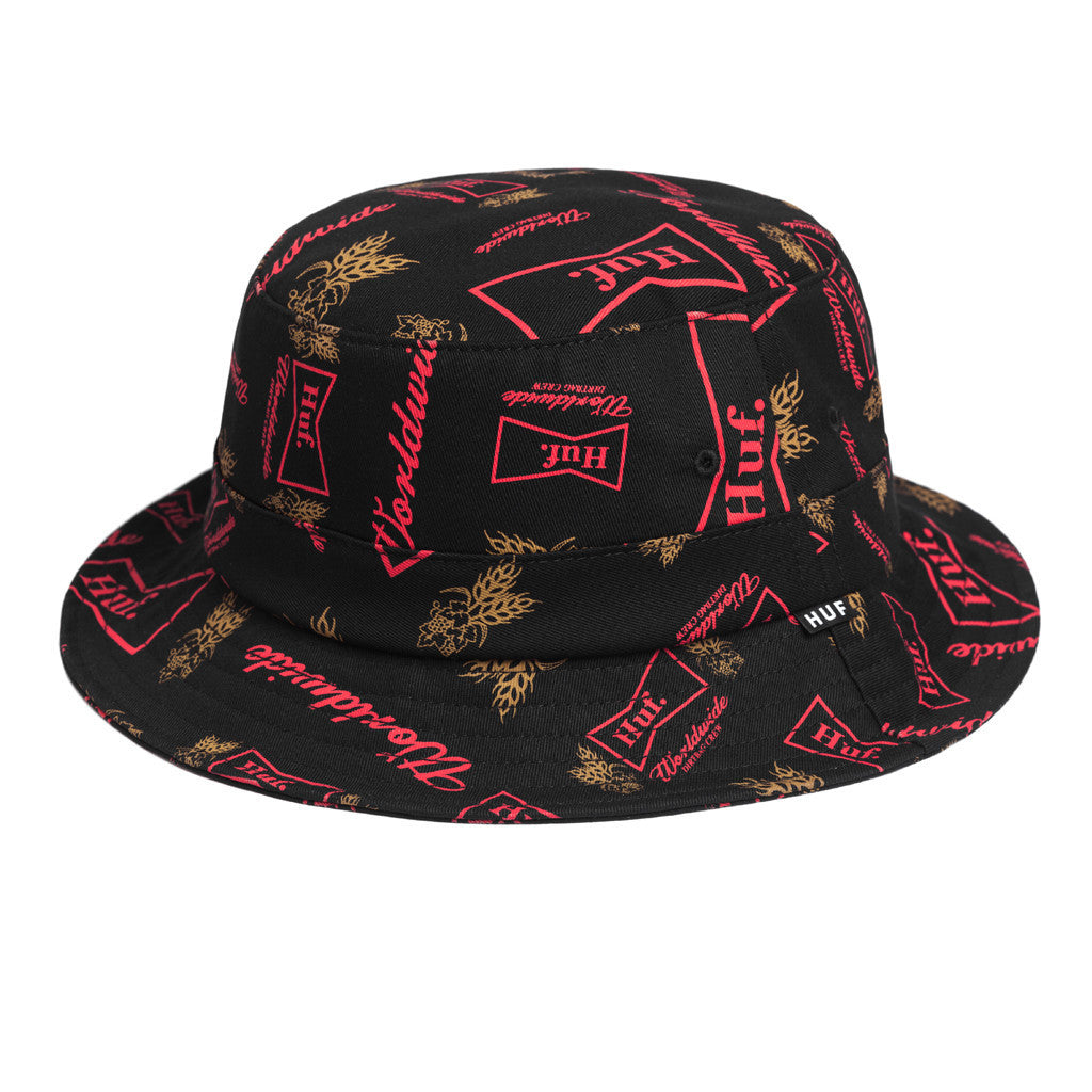 HUF - Drink Up Bucket Hat, Black - The Giant Peach