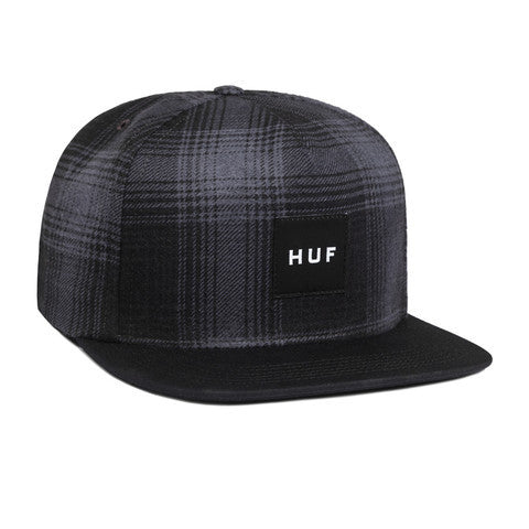 HUF - Freeman Flannel Snapback, Charcoal - The Giant Peach