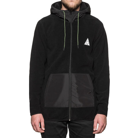 HUF - Stanton Polar Fleece Men's Zip Hood, Black
