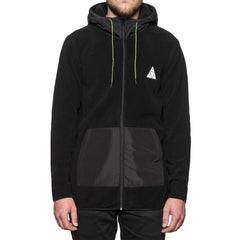 HUF - Stanton Polar Fleece Men's Zip Hood, Black - The Giant Peach - 1