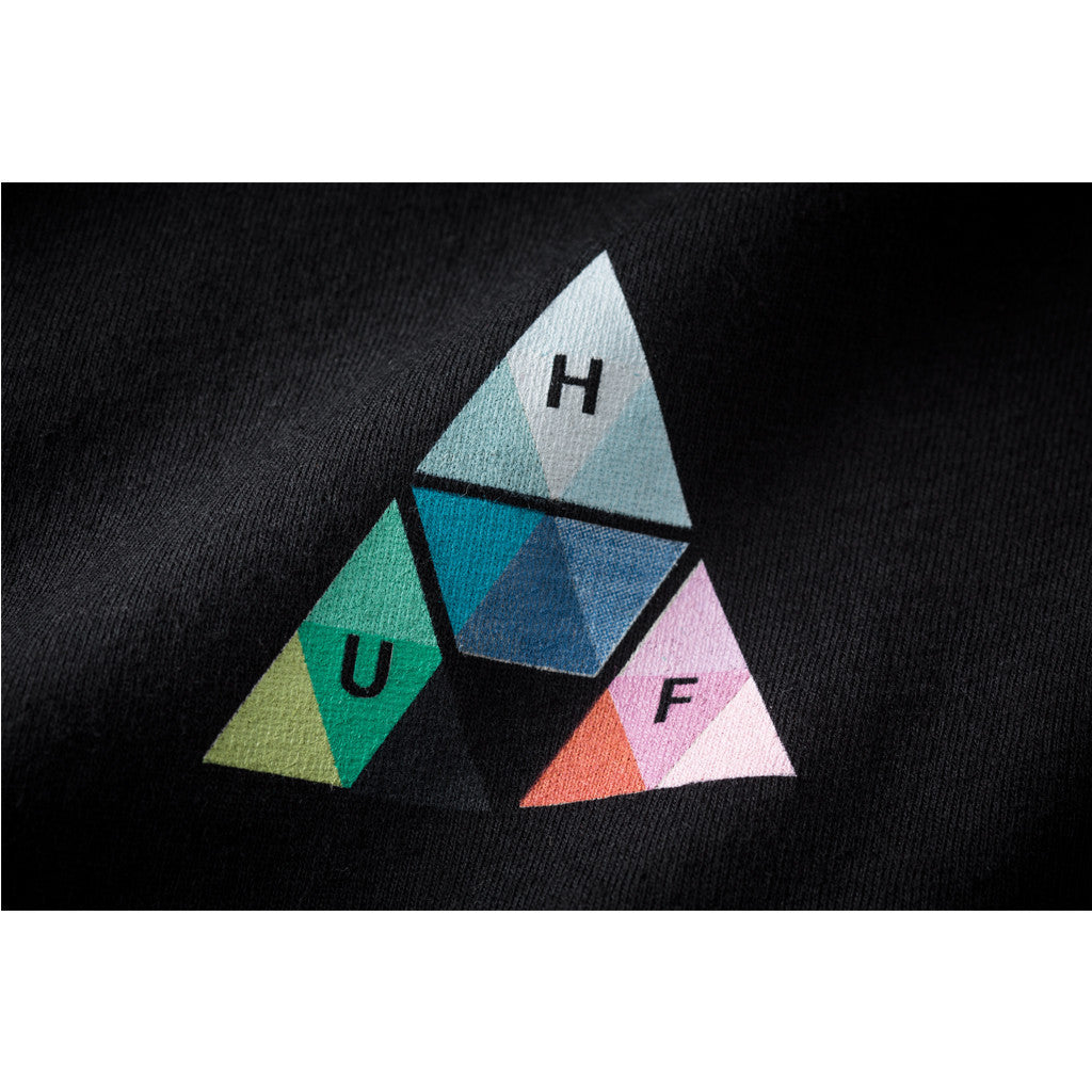 HUF - Triangle Prism Men's Tee, Black - The Giant Peach