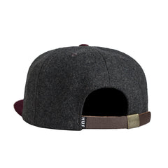 HUF - Wool Classic H Strapback Hat, Charcoal/Wine - The Giant Peach
