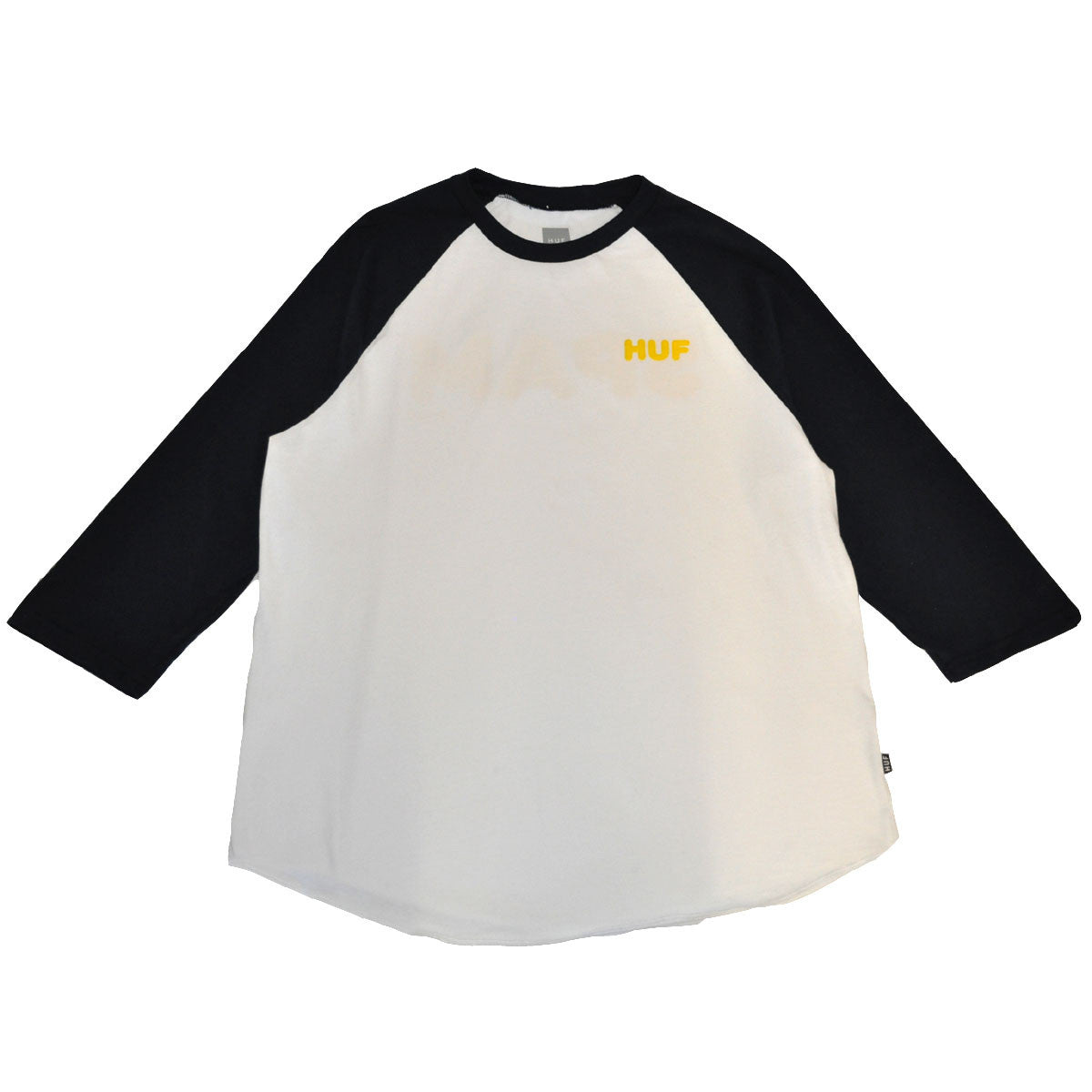 HUF - Spam Men's Raglan Tee, White - The Giant Peach