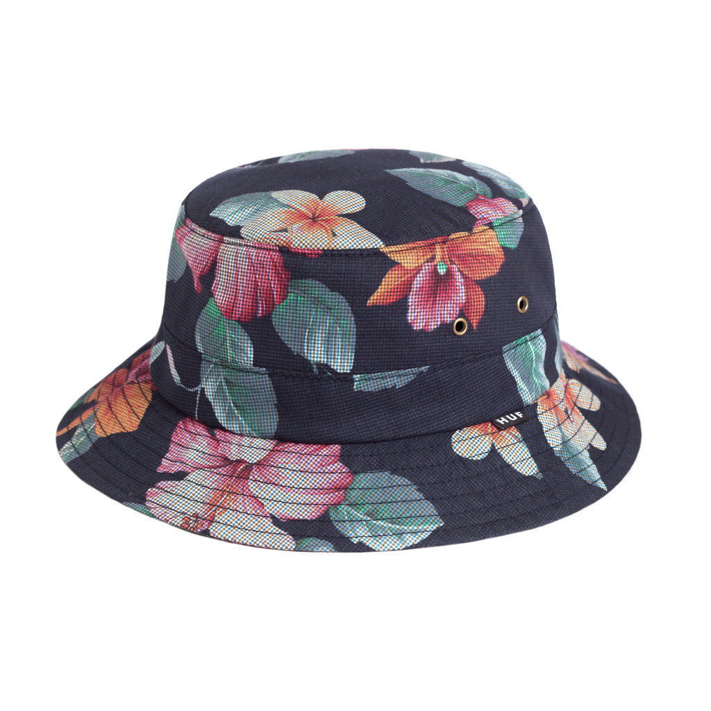 HUF - Aloha Aina Bucket Hat, Black - The Giant Peach