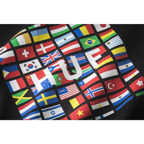 HUF - Flag Box Logo Men's Tee, Black