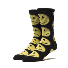 HUF - Have A Bi Polar Day Socks, Black - The Giant Peach
