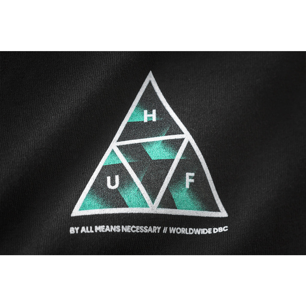 HUF - Premiere Triple Triangle Men's Tee, Black - The Giant Peach - 3