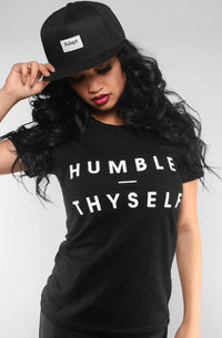 Adapt - Humble Thyself Women's Shirt, Black - The Giant Peach - 1
