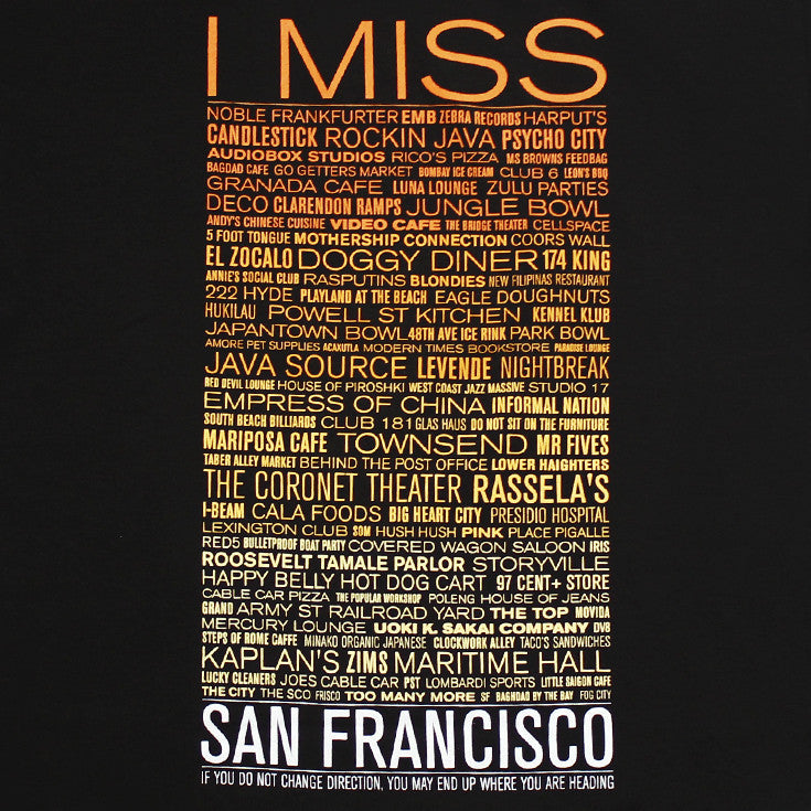 SFCA -  I Miss The Old S.F. Men's Shirt, Black - The Giant Peach
